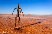 Inside Australia Sculpture, Lake Ballard, Goldfields