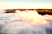 Cloud fills the Jamison Valley at Sunrise